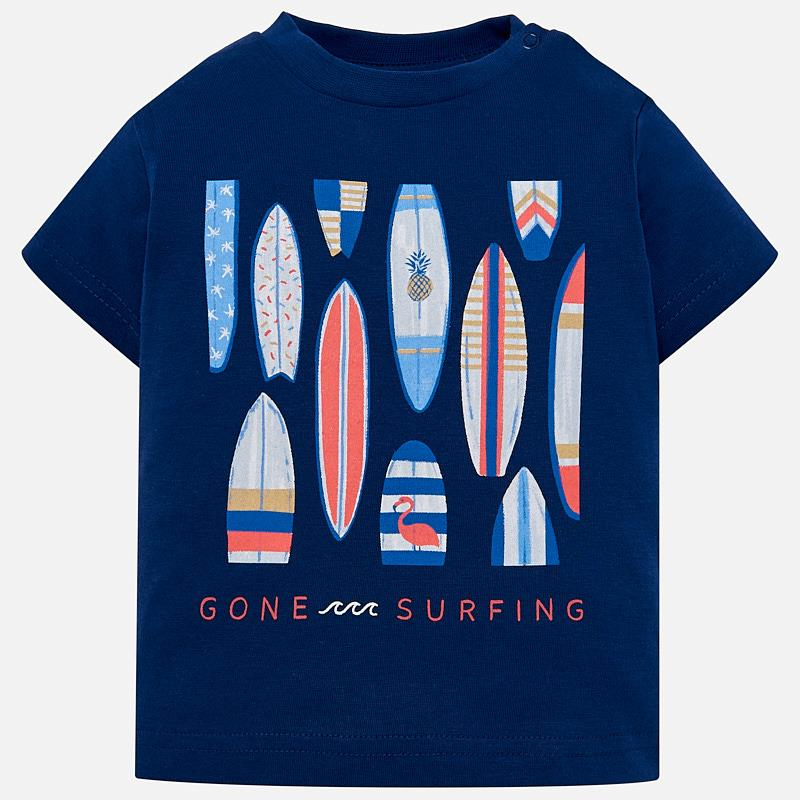 mayoral 1023 Gone Surfing TShirt - navy Blue surfboards