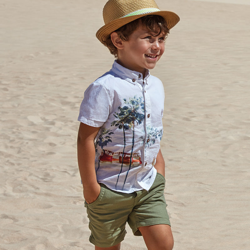 Little Boys Straw Tan Fedora Hat with Lime Green Band 981070d473d
