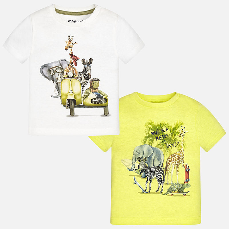 Little Boys Graphic T-Shirts, Giraffe, Elephant, Safari