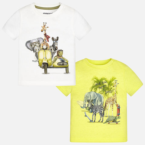 Animal Friends Safari Graphic Print T-Shirt, Mayoral 1060
