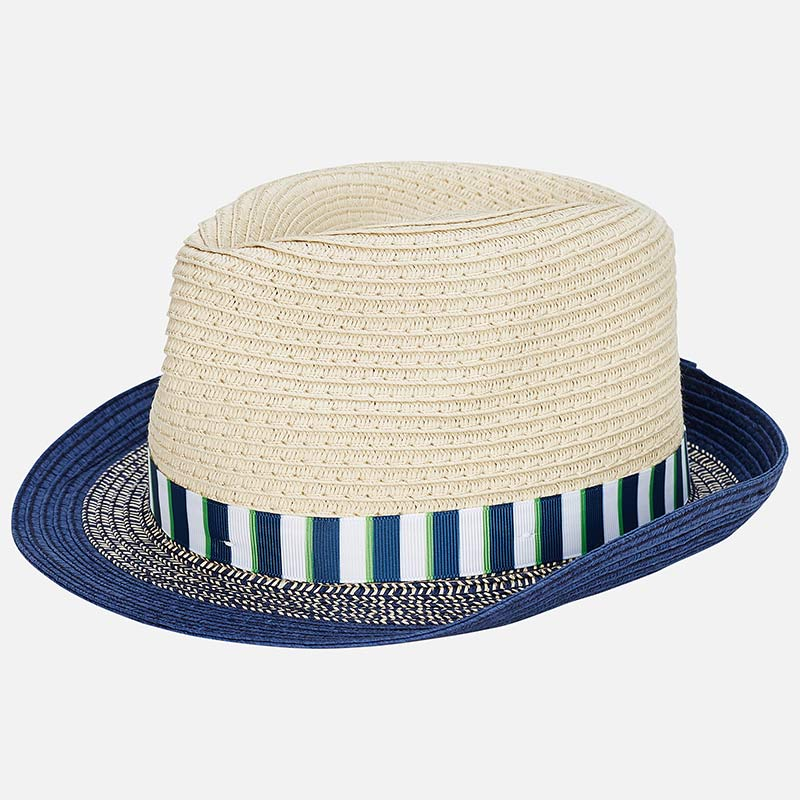 850de8c6e983d0 10611 Straw Fedora, Navy/Green Band, Navy Brim – Bubble Belly moms ...