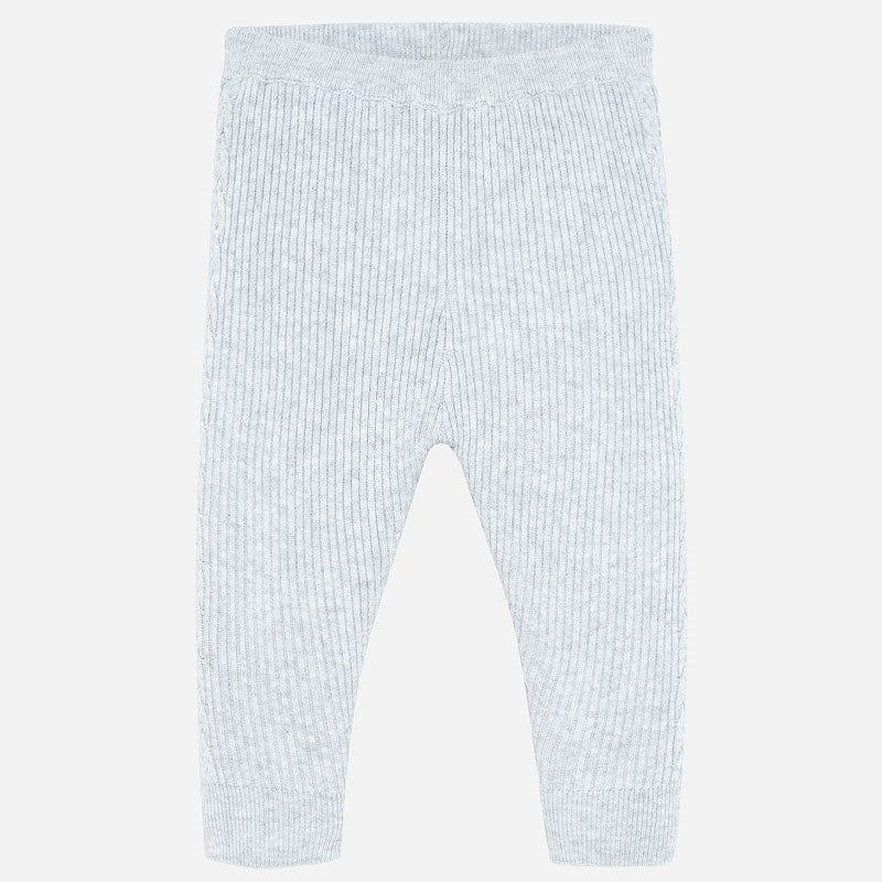 toddler ribbed knit leggings, grey, mayoral 10639