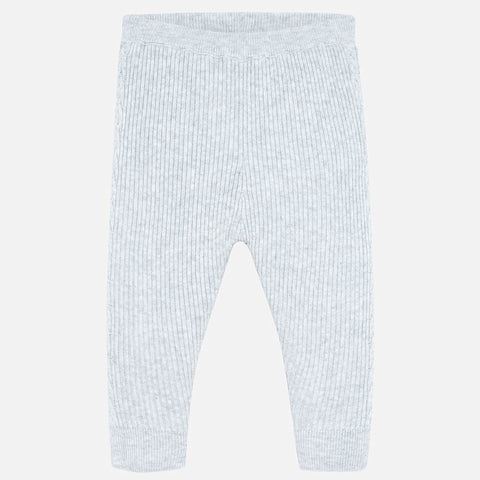 10639 Girls Ribbed Knit Leggings, Grey