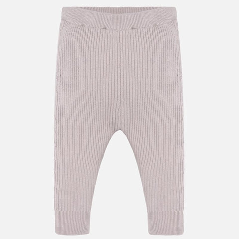 10639 Girls Ribbed Knit Leggings, Latte Cream