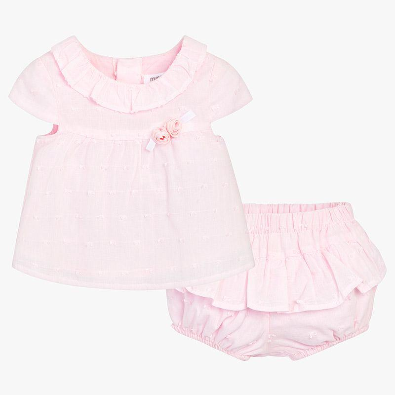 Little girls pink top and diaper cover, summer outfit