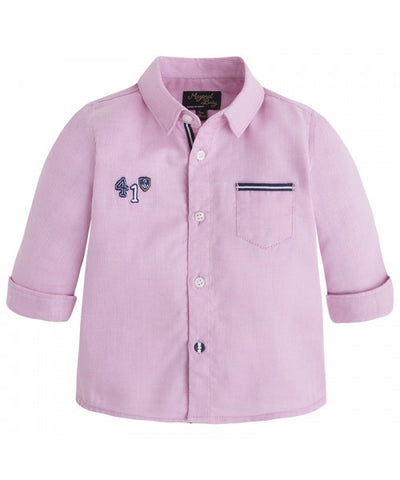 Mayoral 1170 - Boys Cruise Button Up - Sorbet & Navy