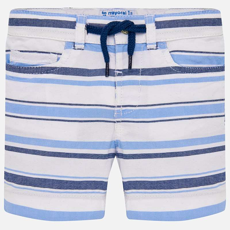 Mayoral 1249 Bermuda Striped Shorts - Blue/White