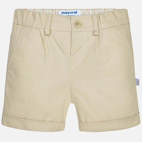 Boys Mayoral 1276 Stretch Dress Shorts, Tan