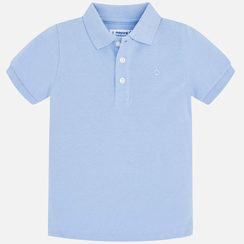 boys back to school polo shirt, light blue, mayoral 150