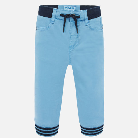 1546 Mayoral Boys Jogger Pants, Sky Blue
