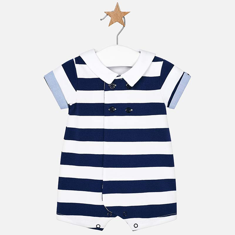 mayoral nautical navy striped romper