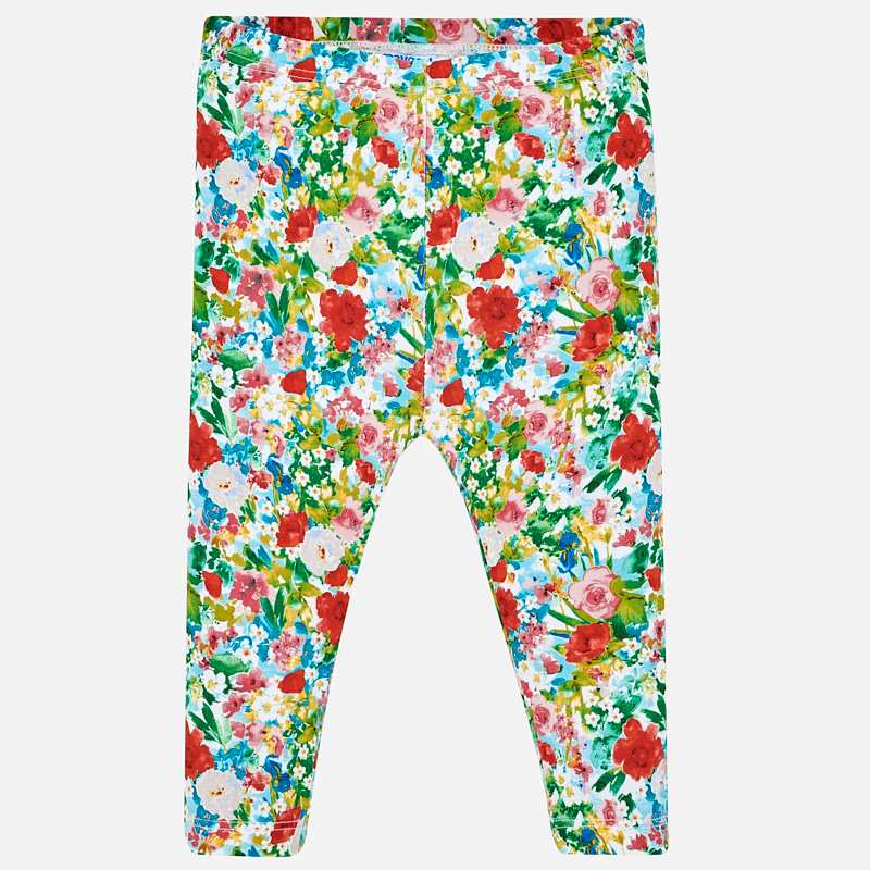 1740 Baby Girls Allover Floral Print Leggings, Green