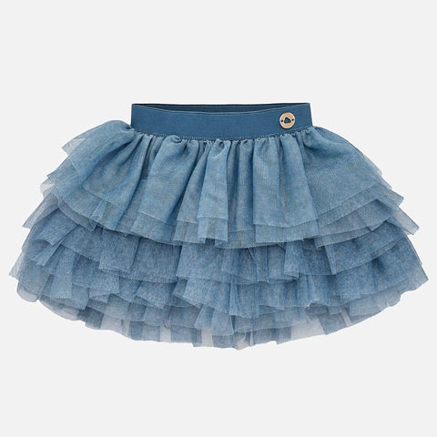 1901 Mayoral Girls Mulit-Layered Tulle Tutu Skirt, Indigo