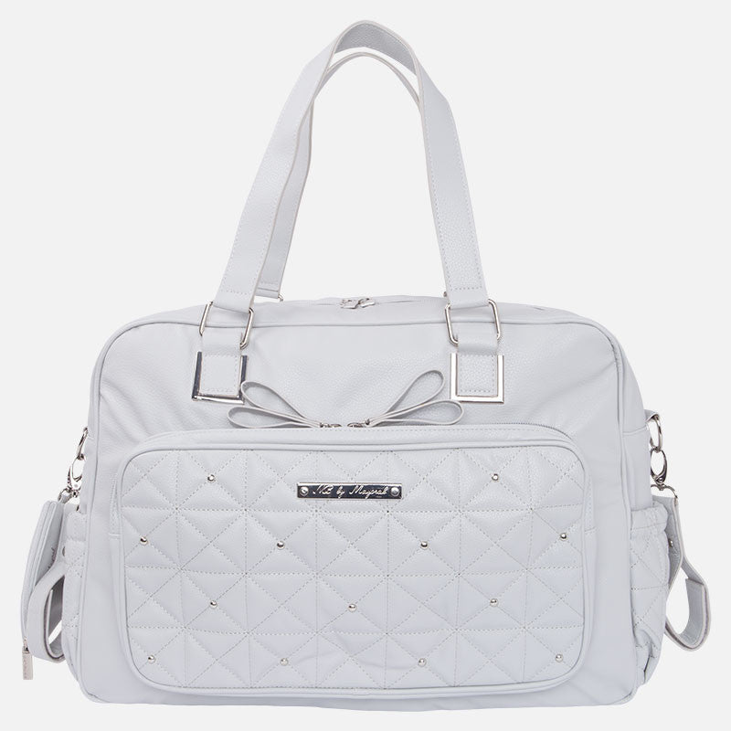Mayoral - Diaper Bag 19270, Stone Grey Quilted