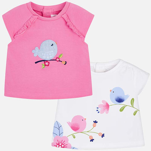 1001 Baby Girls Graphic Print Birdie, Cap Sleeve T-Shirts