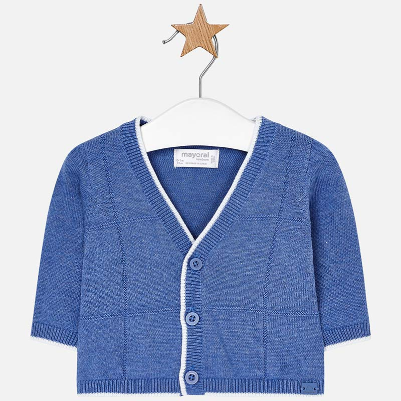 baby boys lightweight dress cardigan, ocean blue, button front, mayoral 1306