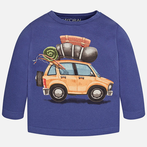 Mayoral 2025 Going Places Camper Graphic T-Shirt, L/S, Navy