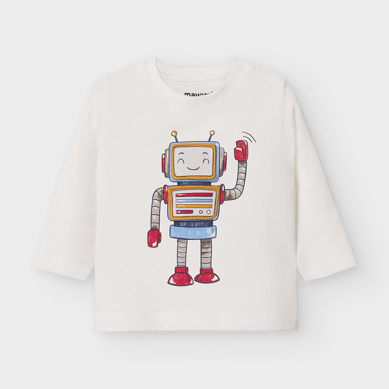 2040 Mayoral L/S Embroidered Flip Up Robot T-Shirt