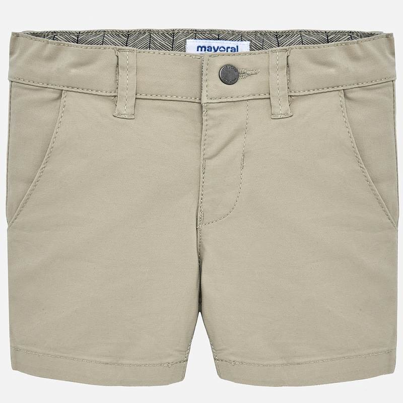 light gray/khaki shorts with button clasp