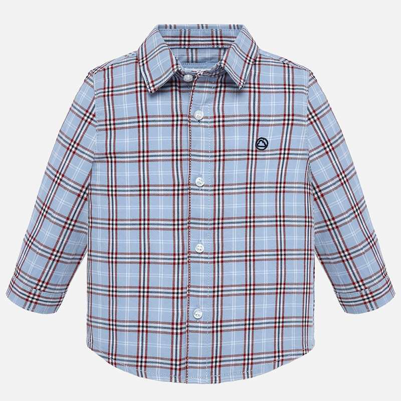2116 Mayoral Red/Blue Checkered Long Sleeve Button Up