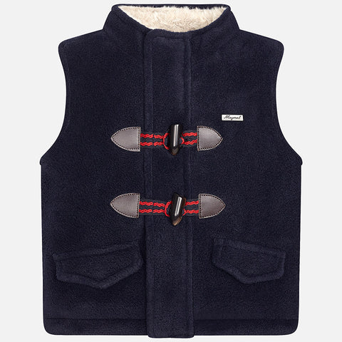 Mayoral 2457 Polar Fleece & Faux Fur Toggle Vest