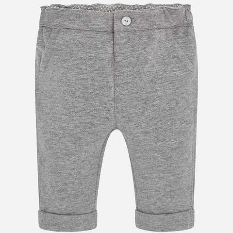 Mayoral 2526 Boys Fleece Dress Pants, Grey