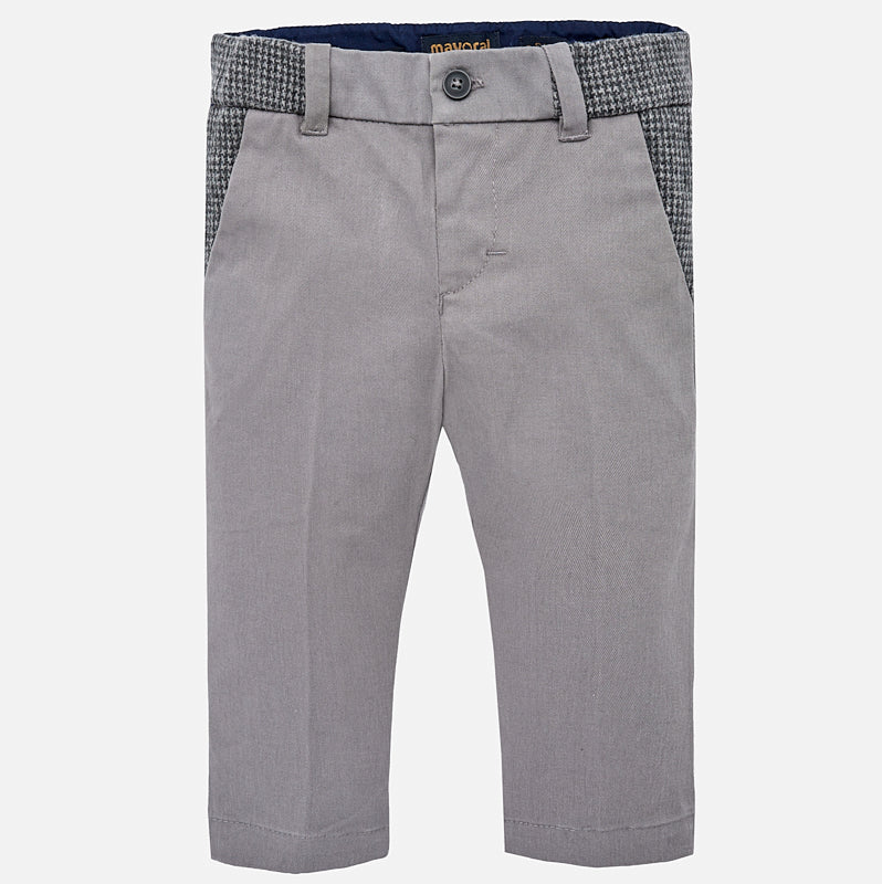 Mayoral boys dress pants, houndstooth and grey, 2560