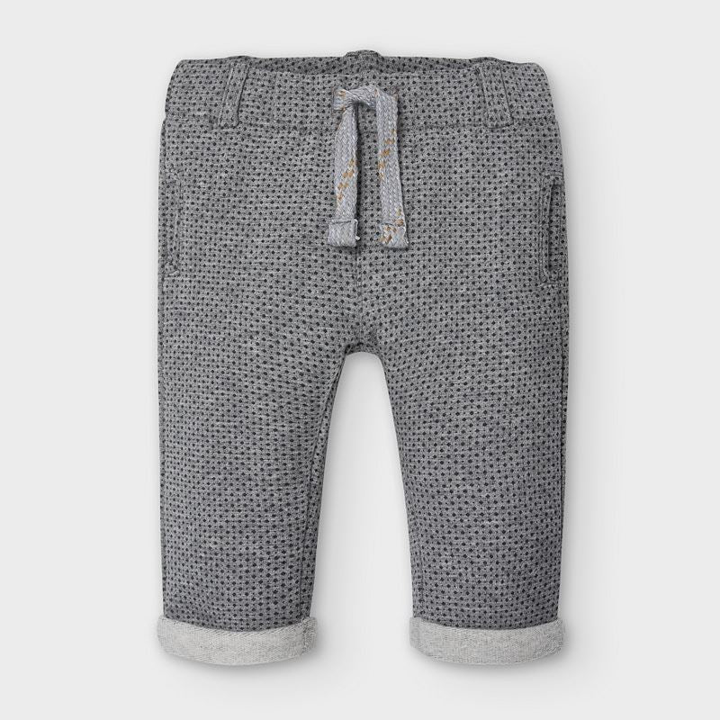 2564 Mayoral Boys Soft Lounge Pants, Moon Grey