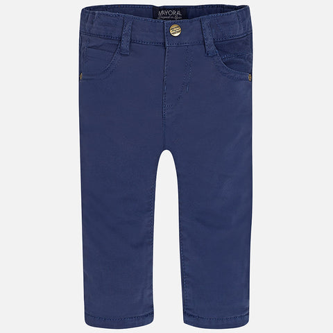 Mayoral 2565 Boys Twill Lined Pants - Deep Blue