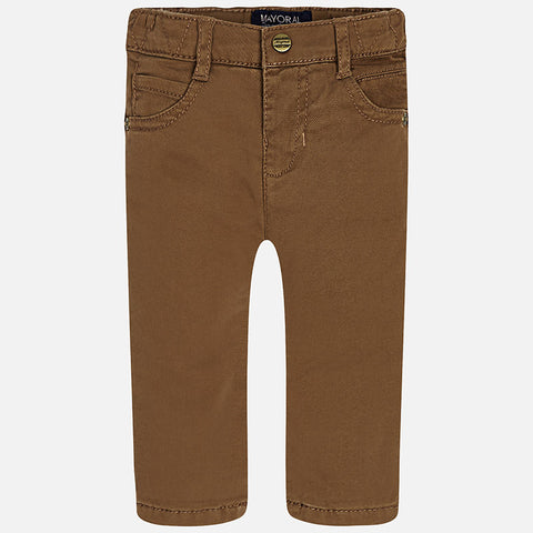 Mayoral 2565 Boys Twill Lined Pants - Chestnut