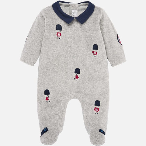 2722 Mayoral Baby Boy Royal Guard Footie Pajama, Grey