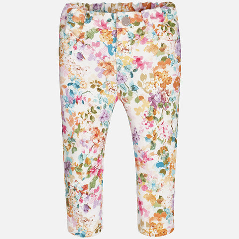 Mayoral 2777 Toddler Floral Skinny Jeggings