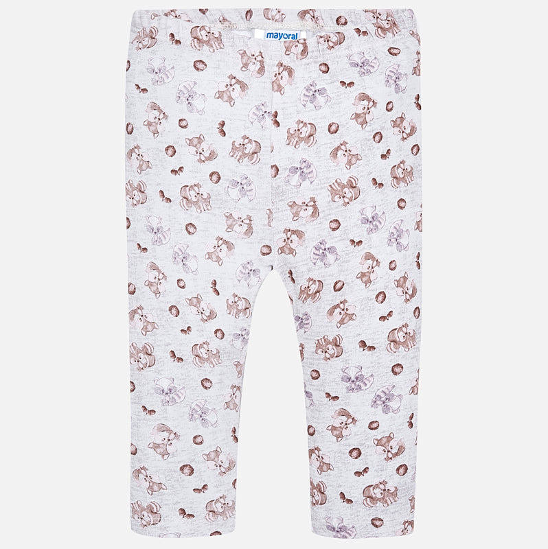 little girls squirrel print leggings, mayoral 2789