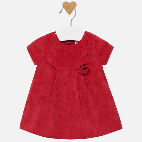 2824 Mayoral Cherry Corduroy Dress