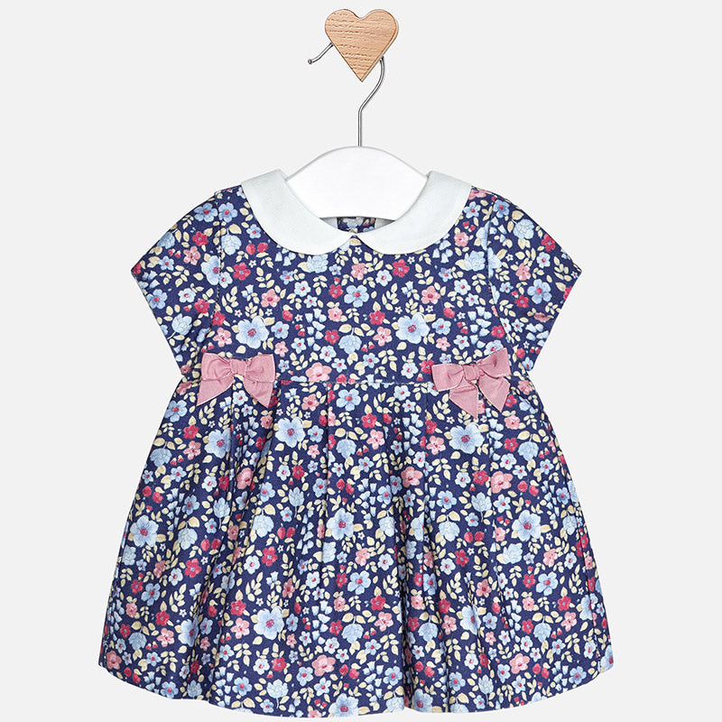 toddler girl floral dress, collared, peter pan, sunday