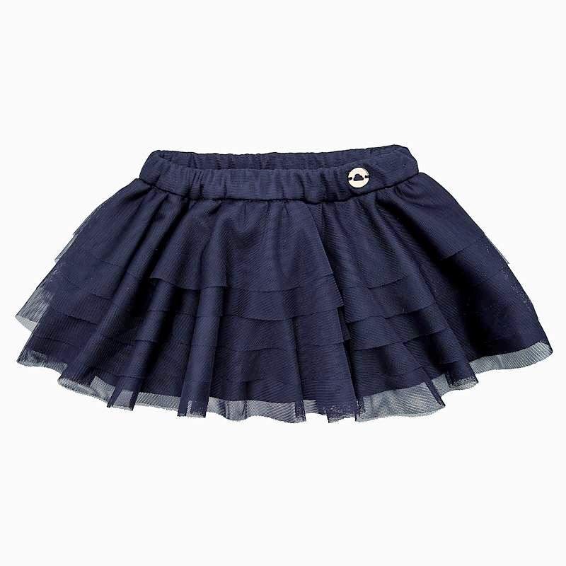 girls navy tutu skirt, layered soft tulle