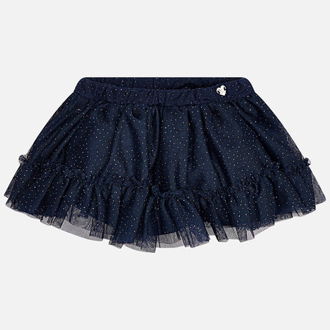 Mayoral 2905 Sparkly Tulle Tutu Skirt, Navy