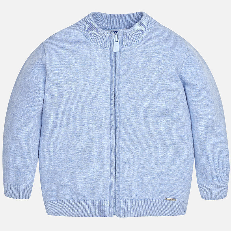 Baby Zipper Sweater Blue Cardigan Classic rax5Fr1q