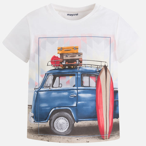 Boys Graphic Print Surf & Skate Van T-Shirt, Mayoral 3091