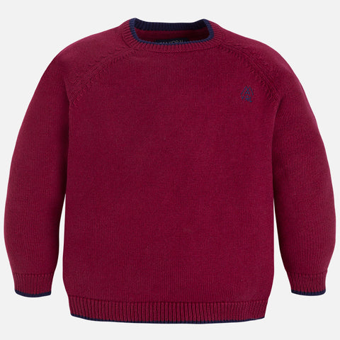 Mayoral 311, Dark Red Crew Neck Sweater