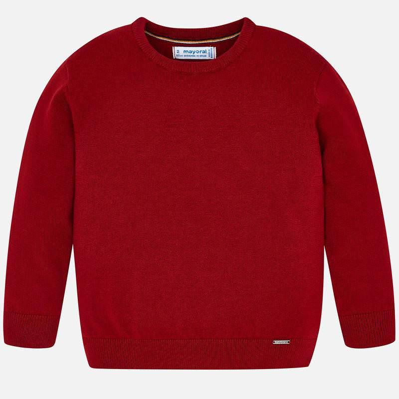 323 mayoral red basic knit cotton sweater