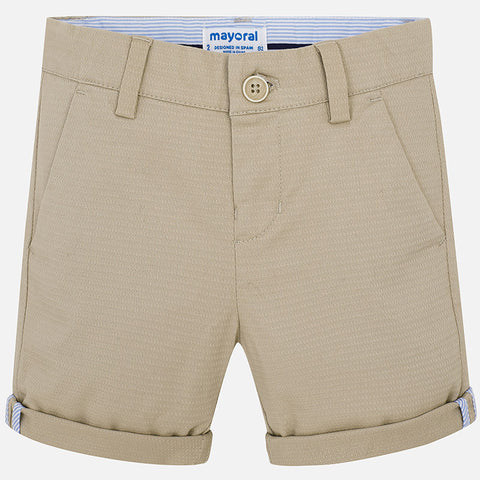 Mayoral Boys 3246 Textured Stretch Dress Up Shorts - Tan