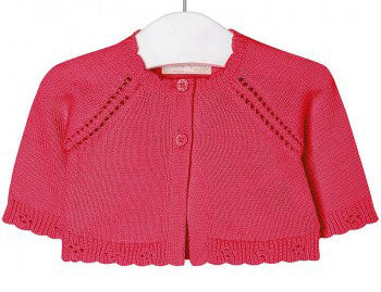 Mayoral, 325, Essential Knit Cardigan - Coral
