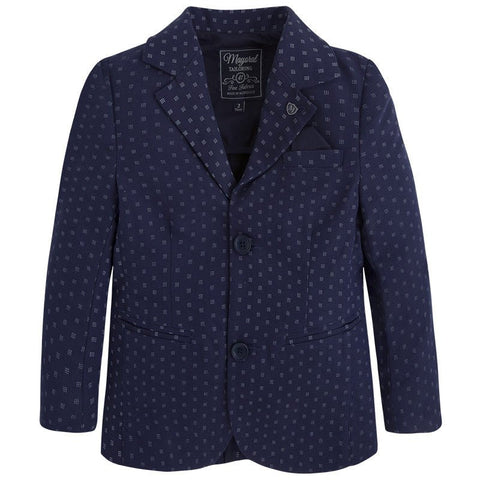 Mayoral 3422, Navy Printed Single Breast Blazer