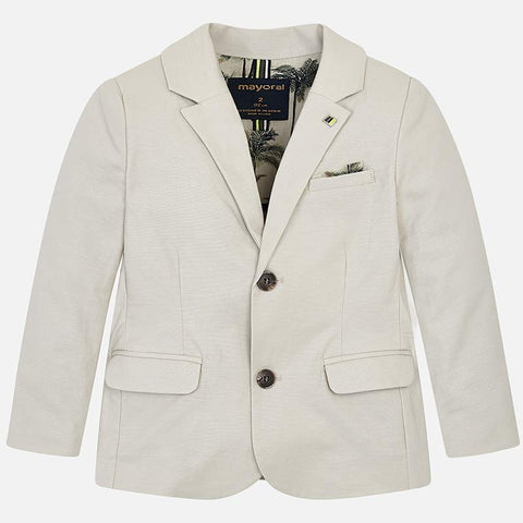 3423 Linen Blazer/Suit Jacket for Boys, Tan Stone