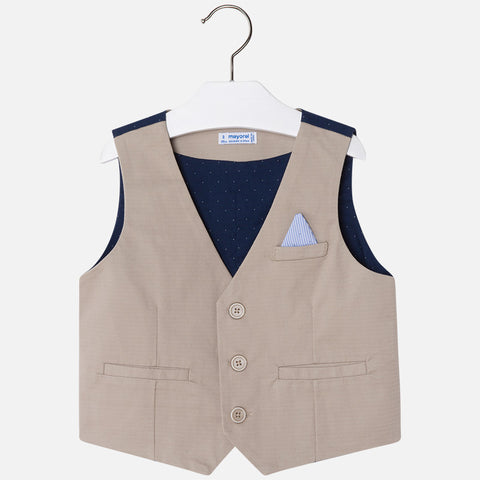 Mayoral 3444 Boys Tan Stretch Vest