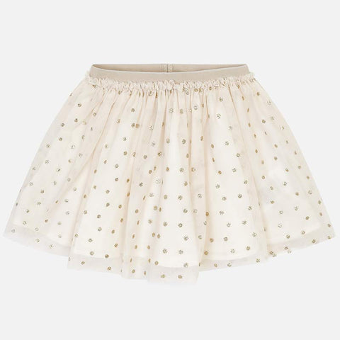 Mayoral 3902 Little Girls Golden Tulle Skirt