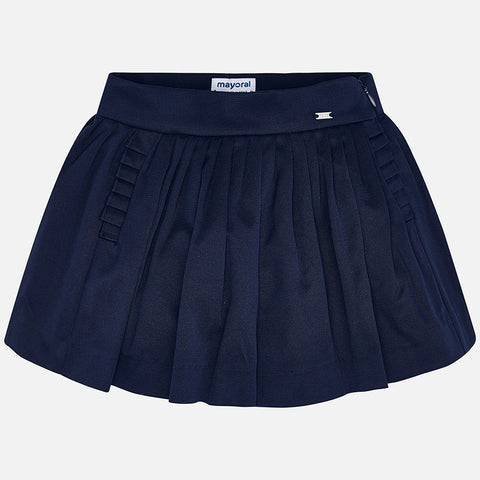 3907 Mayoral Pleated Navy Skort