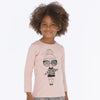 4016 mayoral dusty rose pink girls long sleeve glittery girl graphic print t-shirt