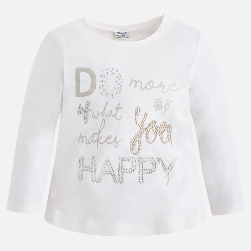 Do More Of What Makes You Happy - L/S Rhinestone & Studs Tee